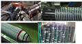 plastic hose machine PVC rigid and soft spiral pipe production line