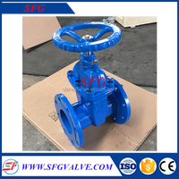 API Gear Operated Rising Stem Cast Steel Gate Valve