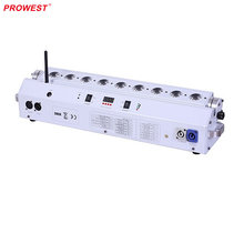 110V LED 9PCS <strong>x</strong> 18W 6in1 RGBWA+UV Battery Powered Wireless DMX led light bar