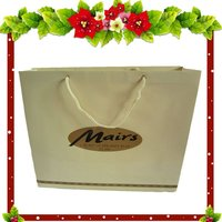 garment paper shopping bag with cotton rope handle