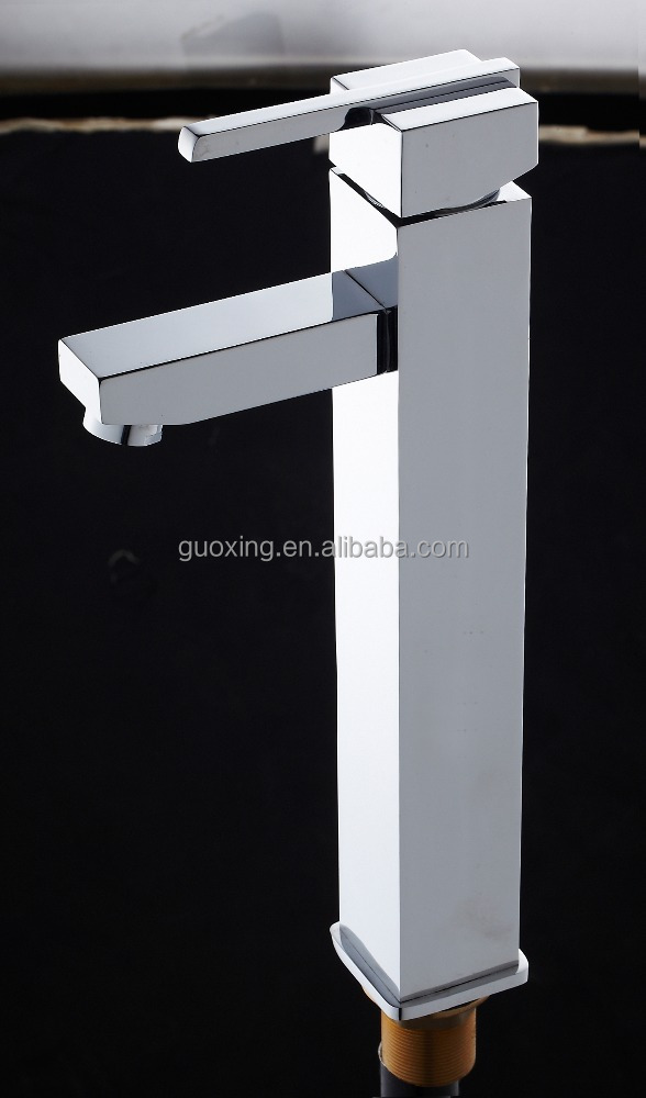 brass high body square basin mixer/high grand faucet