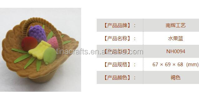 Sweet home decorative gifts Cartoon flower basket shaped khaki velvet earring ring box