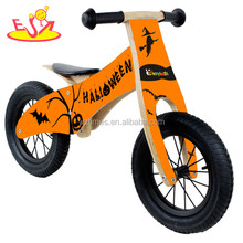 Wholesale best sale cool style kids wooden black balance bike used in home and outdoor W16C096-1