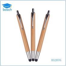 Promotional cheap wood pen with logo wooden pen with stylus