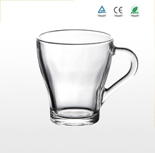 Factory stock sale wholesale with handle coffee glass mugs tea cup