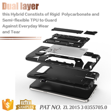 Combo tpu pc kickstand card holder smart case for samsung galaxy note 5