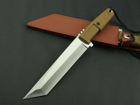 TRSKT Knife ABS Handle C00882C Saber Knives Hunting Tools 5Cr13Mov Blade Fixed Blade Camping Knife 6819