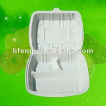biodegradable lunch box/disposable fast food packing/cornstarch food container