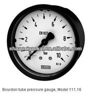 Bourdon tube pressure gauge Model 111.16, back mount Panel mounting series
