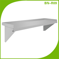 Restaurant kitchen stainless steel shelves, kitchen shelfs design wall shelf