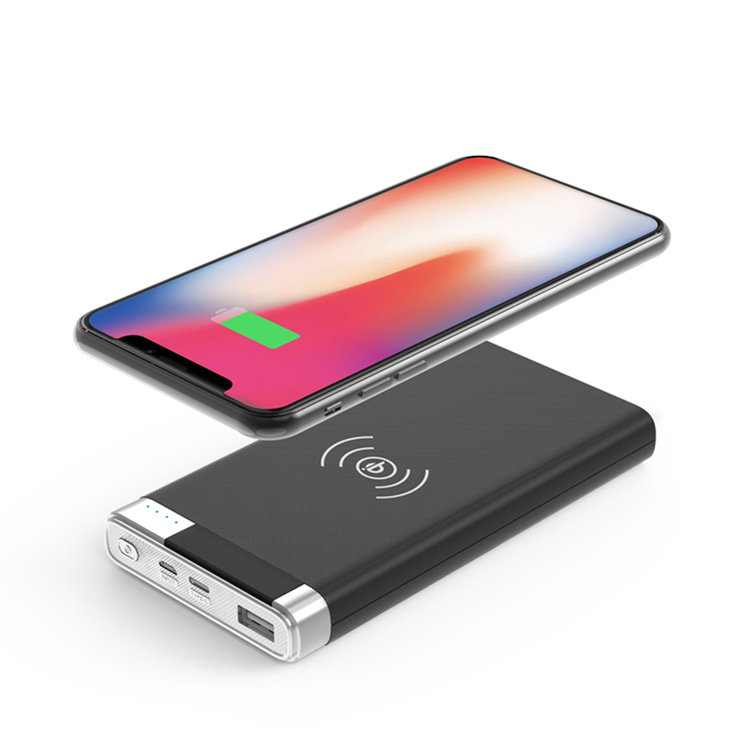 Mobility innovation slim wireless charger power bank supply10000mah