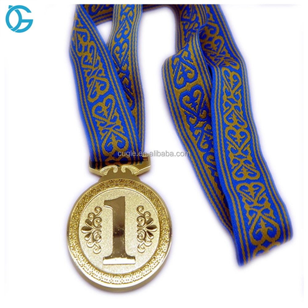 High quality custom engraved metal gold commemorative medal