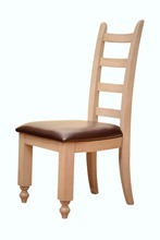 Solid wood oak furniture antique white dining chair