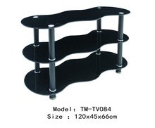 high quality useful Unique design glass room furniture TV table lcd TV stand
