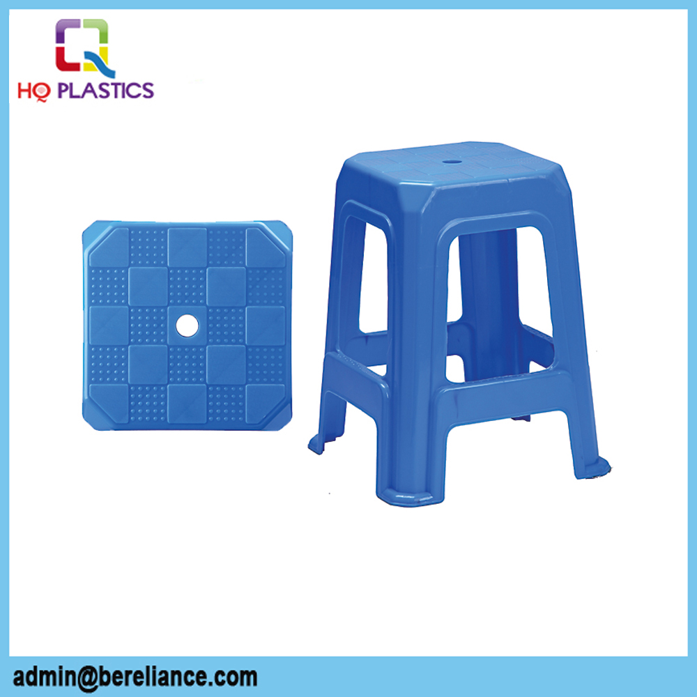 Colorful Kitchen Footrest Plastic Dining Stackable Stool