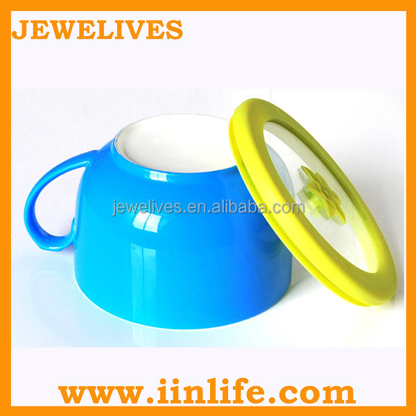 New novelty design ceramic bowl with handle
