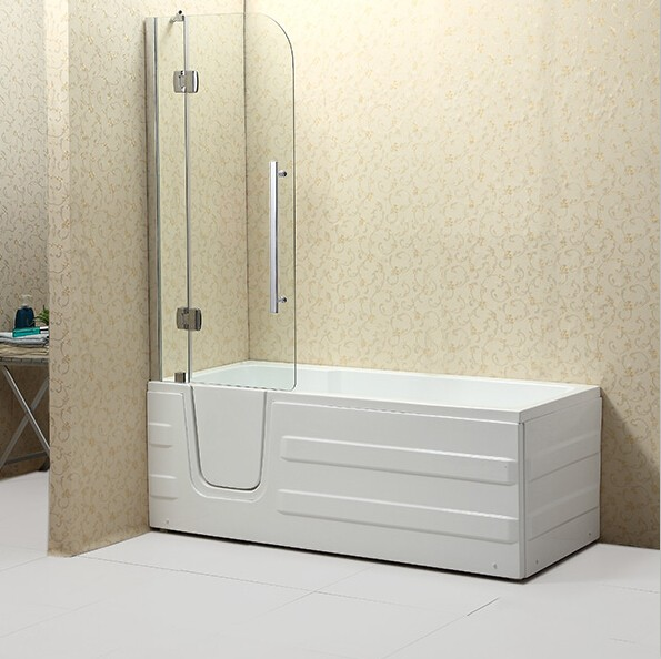 2016 New Safety Walk In Bathtub With Curtain And Door For