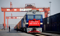 Railway freight forwarder door to door delivery service DDP from China to Finland