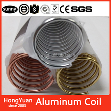 "Factory Supply Made In China School Stationery S coil binding 1"" aluminum 1inch aluminum wire coils spiral coil binding aluminum"