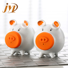 Cute pig tableware colorful salt and pepper shakers