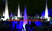 inflatable light cone balloons, cone shaped balloons, decoration for light balloon