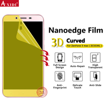 news from japan best material transparent Full Screen cover 3D curved phones for ASUS ZenFone 3 Max screen film protector