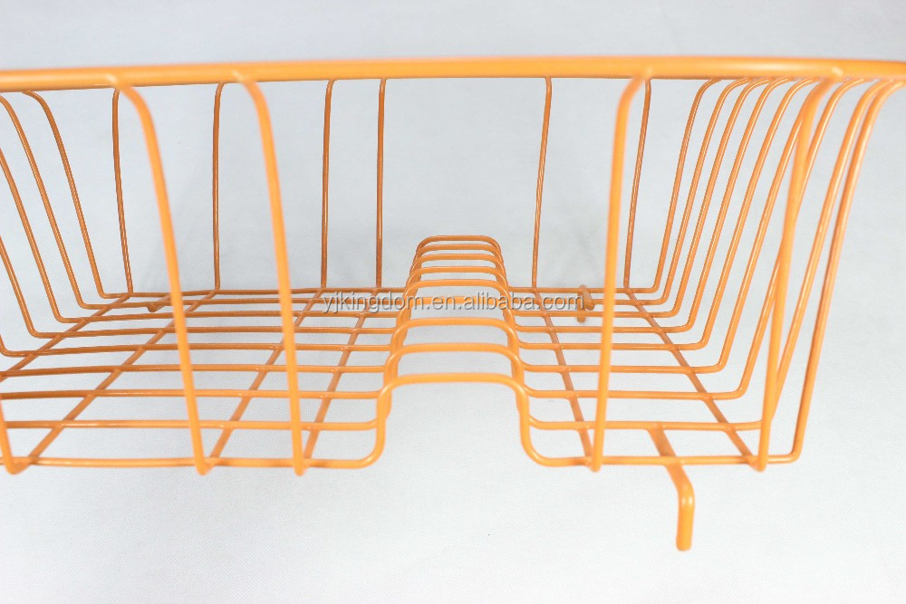 548-35 Kitchen Rectangle Coloring Metal Wire Dish Drying rack