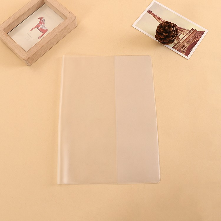 Customised promotional a3 a6 clear or matte PVC plastic protective book cover