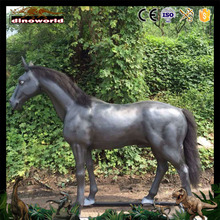 DW-0780 Waterproof fiberglass animal horse with fur