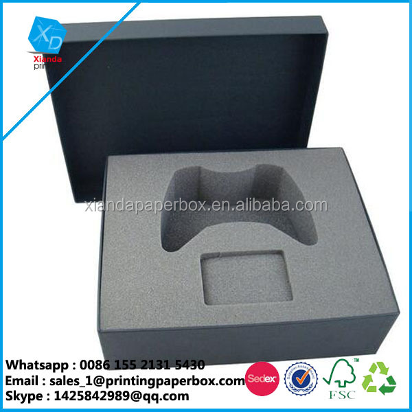 Accept custom order and cardboard material foam padding games console gift box custom box packaging
