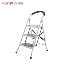 Security display 4 step ladder shelf locking hinge