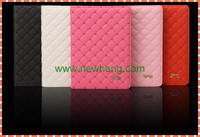 Wholesale Grid Lambskin Flip Pu Leather Case For iPad mini
