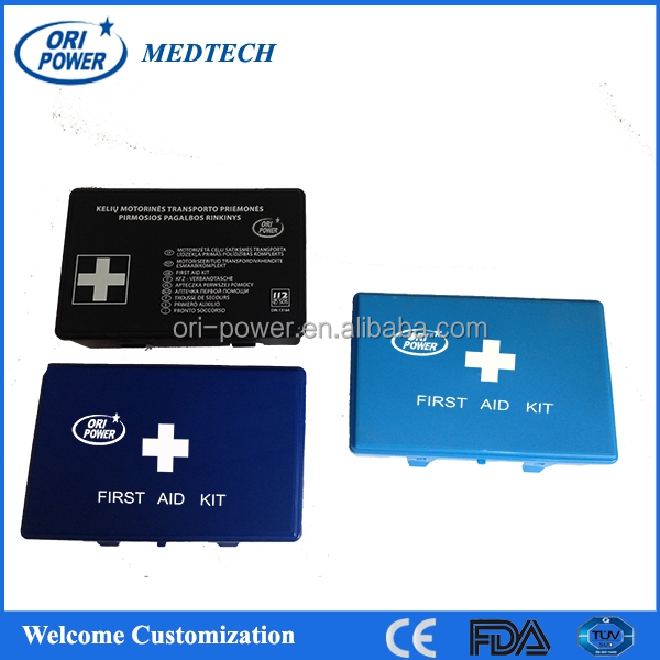 OP wholesale FDA CE ISO approved DIN13164 compact practical family car small first aid box