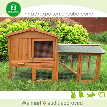 wooden castle rabbit hutch