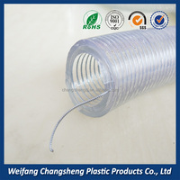 3/4Inch High Quality Clear Spiral Steel Wire Reinforced PVC Fuel Hose