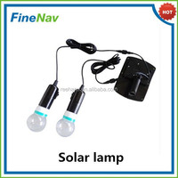 Solar Indoor/Outdoor LED Light with Two Light Bulb