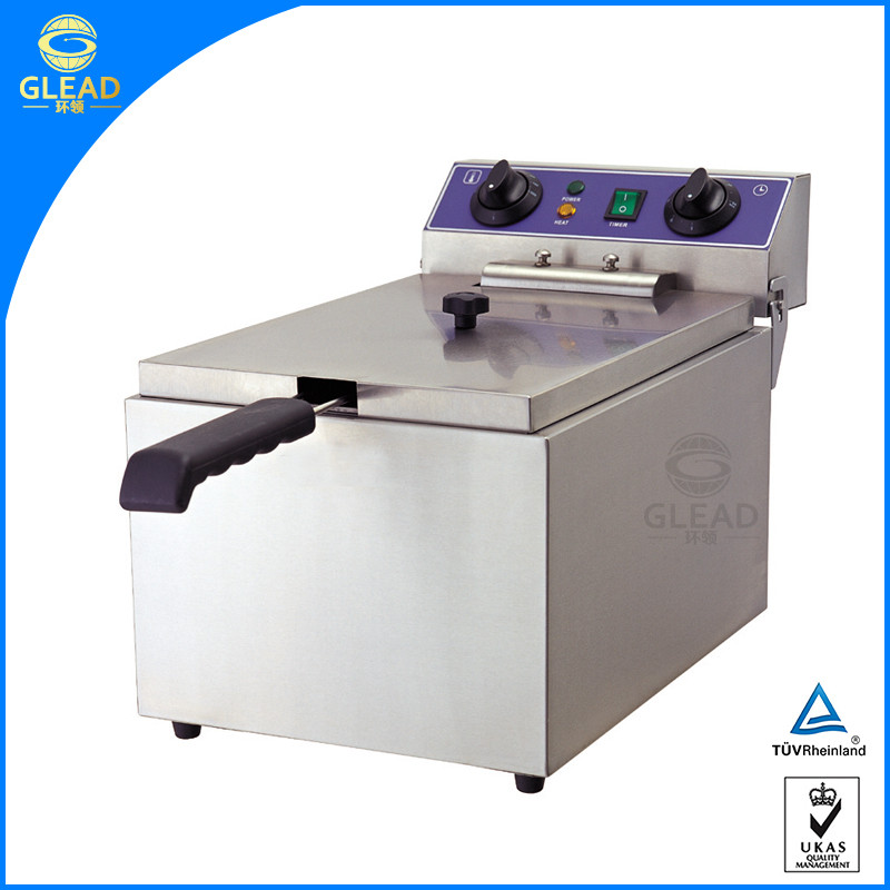 Professional commercial automatic deep electric fryer/frier with cabinet