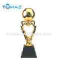 gold soccer player trophy figurines