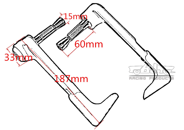 BJ-LG-004 For Yamaha R1 Bent Style Plastic Adjustable Brake Lever Guard Protector
