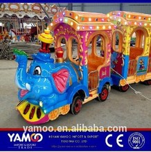 Outdoor entertainment trackless train for children