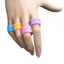 High quality new design fashion silicone o ring, silicone jewelry ring, silicone finger ring
