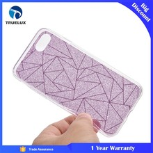 Truelux Shockproof 360 TPU Gel Protective Glitter Bling Pink Mobile Cases Cover For iPhone 7