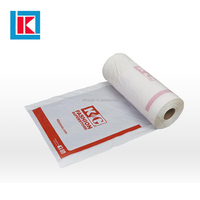 Wholesale laundry garment bag on roll clear ldpe with printing