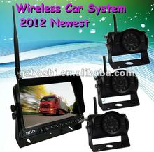 "High quality- 7"" wireless visual car rearview security camera system"