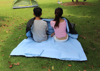 "86""x60"" Double Thermal Sleeping Bag 2 Person Outdoor Camping Hiking Adult Sleeping Bag with 2 Pillows"