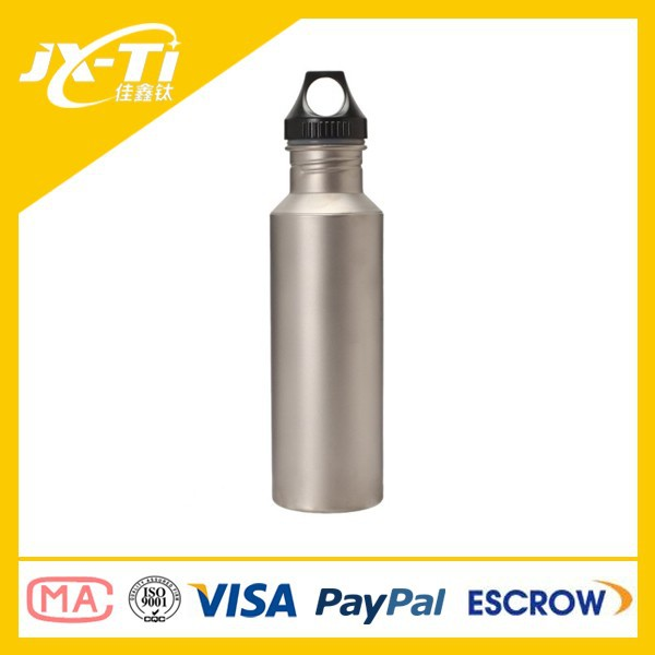 ultra light weight titanium sport water bottle for camping hiking backpacking