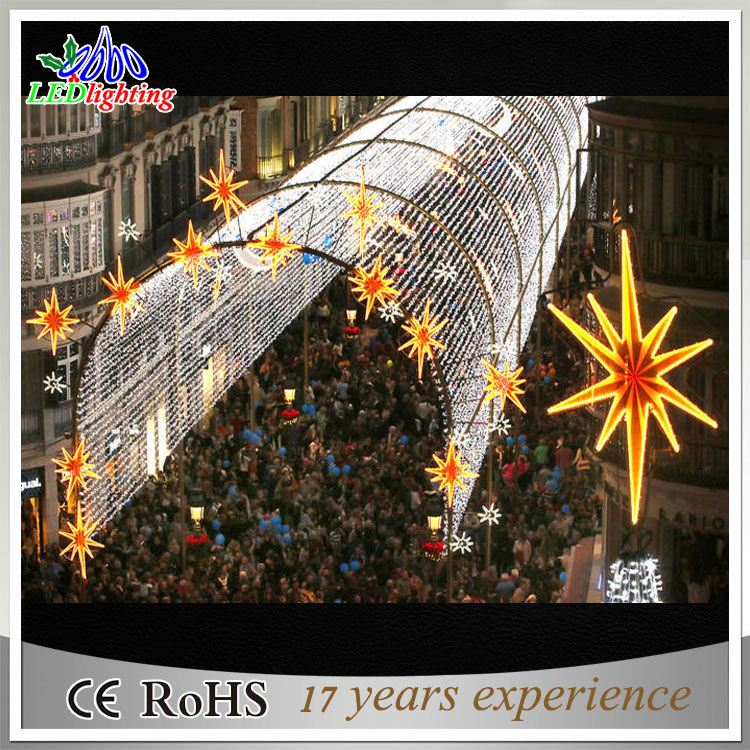 2017 christmas display motif light arches for street