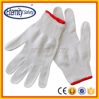 China supplier poly cotton knitted work safety pvc dotted gloves