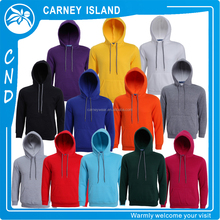 Cutom your logo 100% cotton plain blank wholesale mens fleece pullover hoodies