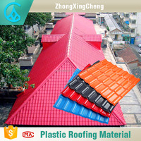 ASA synthetic resin roof tile for bamboo gazebo plans house prefabricated types of roof tiles